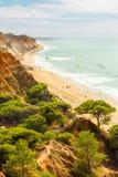 Faleia-Strand von oben Stockfoto