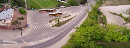 Falenica公共汽车站在Wawer区 库存照片