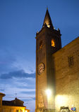 Falerone中世纪村庄在意大利 免版税库存图片