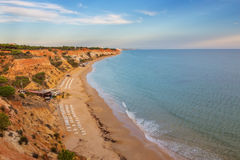 Falesia beach in Albufeira, Algarve region, Stock Images