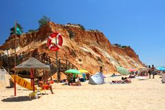Falesia beach in Algarve royalty free stock images