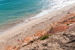 Falesia Beach seen from the cliff Stock Images