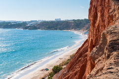 Falesia Beach seen from the cliff Royalty Free Stock Photography