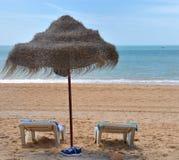 falesia de plage d'albufeira Image libre de droits
