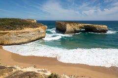 Falez formacje, Wielka ocean droga, Wiktoria, Australia Obrazy Royalty Free