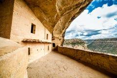 Falez mieszkania w mesy Verde parkach narodowych, CO, usa Fotografia Stock