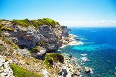 Faleza Bonifacio, Corsica, Francja Zdjęcia Stock