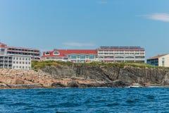 Faleza Domowy hotel w Ogunquit, Maine zdjęcia stock