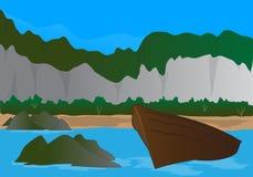 Faleza i plaża Royalty Ilustracja