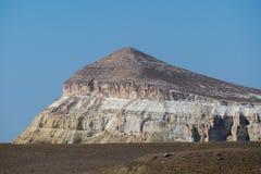Faleza na krawędzi Ustiurt plateau, Kazachstan Zdjęcie Royalty Free