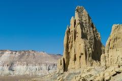 Faleza na krawędzi Ustiurt plateau, Kazachstan Obraz Stock