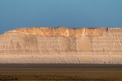 Faleza na krawędzi Ustiurt plateau, Kazachstan Fotografia Stock