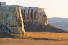 Faleza na krawędzi Ustiurt plateau, Kazachstan Zdjęcia Stock