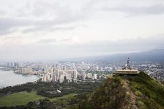 Faleza nad Waikiki Zdjęcia Royalty Free