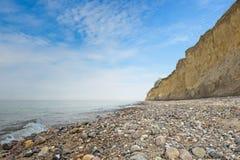 Faleza przy morzem bałtyckim między Ahrenshoop i Wustrow, western Pomerania Zdjęcia Stock