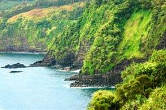 Faleza spada w Pacyficznego ocean zdjęcie royalty free