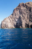 Faleza w morzu Fotografia Stock