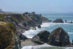 Faleza w Pacyficznym oceanie, Duży Sura Kalifornia usa Zdjęcie Royalty Free