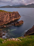Falezy blisko Ballydavid, Dingle półwysep, Irlandia Obrazy Royalty Free