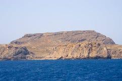 Falezy blisko sławnej Balos plaży, Crete, Grecja obraz stock