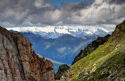Falezy Carnic Alps z graniami i lodowami Hohe Tauern Obraz Royalty Free