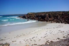 Falezy i plaża, Eyre półwysep fotografia stock