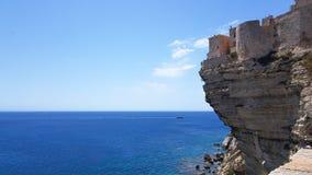 Falezy krawędź Bonifacio, Corsica obraz royalty free