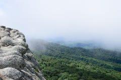 Falezy mgły Phuhinrongkla park narodowy Fotografia Stock