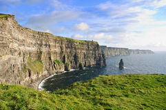 falezy moher sławnego irlandzkiego opóźnionego zmierzch Zdjęcie Stock