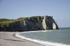 falezy Normandy zdjęcia stock