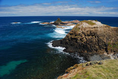 falezy ostrosłupa morze Zdjęcie Royalty Free