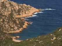 Falezy północny Sardinia Fotografia Stock