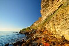 Falezy przy wybrzeżem w Paldiski Obraz Stock