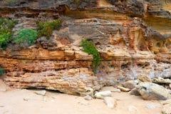Falezy rockowy zbliżenie Zdjęcie Royalty Free