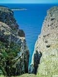 Falezy stawia czoło barents morze w nordkapp fotografia royalty free