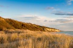 Falezy wybrzeże Ahrenshoop Obrazy Royalty Free
