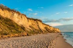 Falezy wybrzeże Ahrenshoop Fotografia Stock