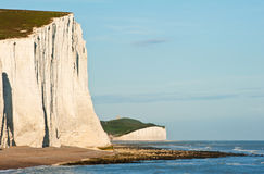 falezy zestrzelają England krajobrazu siedem siostry południowe Fotografia Stock