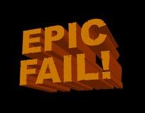 Falha da epopeia! 3D Foto de Stock Royalty Free
