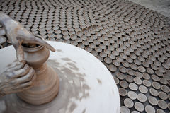 A falha de Diyas para iluminar acima o ` dos oleiro vive Imagem de Stock Royalty Free