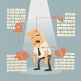 Falha de negócio ilustração do vetor
