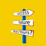 Falha do sucesso ilustração stock