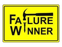 Falha e vitória ilustração do vetor
