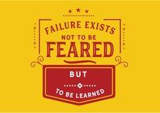 A falha existe para não ser temida mas para ser aprendida ilustração royalty free