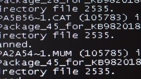 Falha, falha do computador Um reinício de sistema 4K video estoque