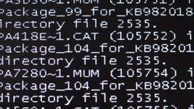 Falha, falha do computador Um reinício de sistema 4K vídeos de arquivo