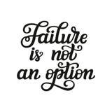 A falha não é uma opção Fotografia de Stock Royalty Free
