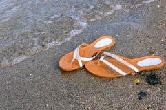 Falhanços da aleta na praia Foto de Stock Royalty Free