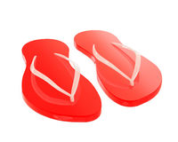 Falhanços de aleta vermelhos isolados no branco Imagens de Stock Royalty Free