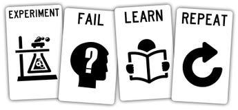 Falhe e aprenda Imagens de Stock